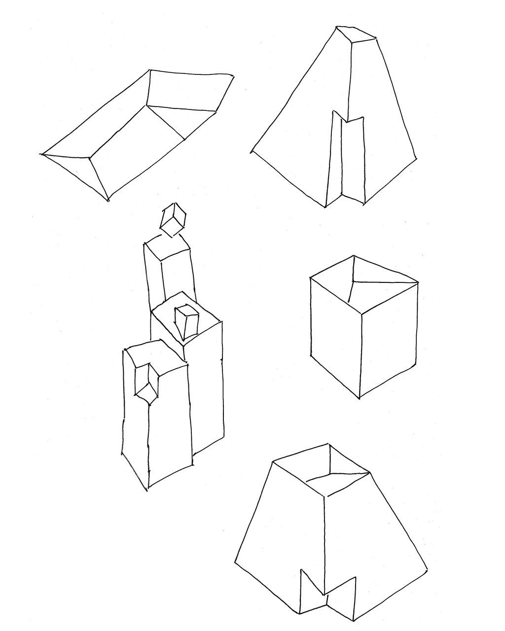 Cubes Skizzen